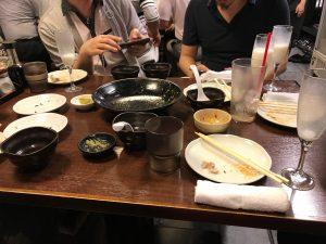 食後の歓談モード
